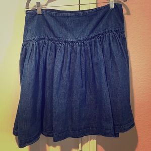 Gap Flirty Blue Jean Skirt